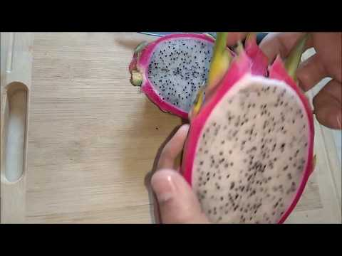 how to cut dragon fruit