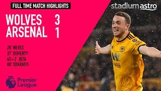 Wolverhampton Wanderers 3 - 1 Arsenal | EPL Highlights | Astro SuperSport