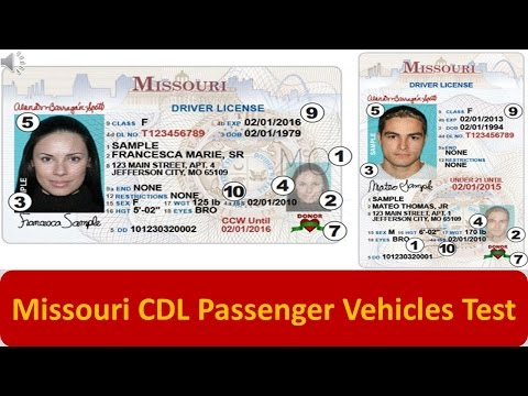 Missouri CDL Passenger Vehicles Test