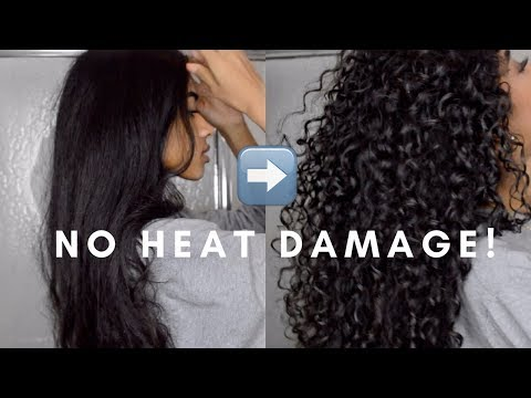How to: Straight to Curly | NO HEAT DAMAGE!