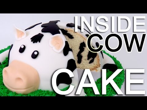 How-To Make A COW CAKE with a INSIDE Cow Pattern!