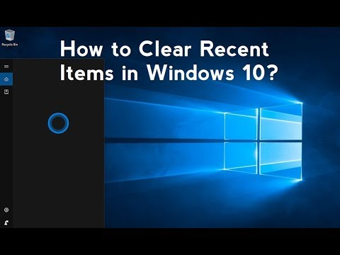 How to Clear Recent Items in Windows 10?