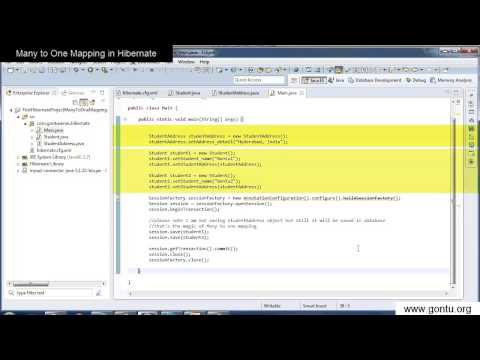 Hibernate Tutorial part 10 - Many to One Mapping in a Hibernate Application in detail