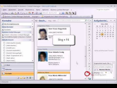 Business Contact Manager for Outlook Kategorien