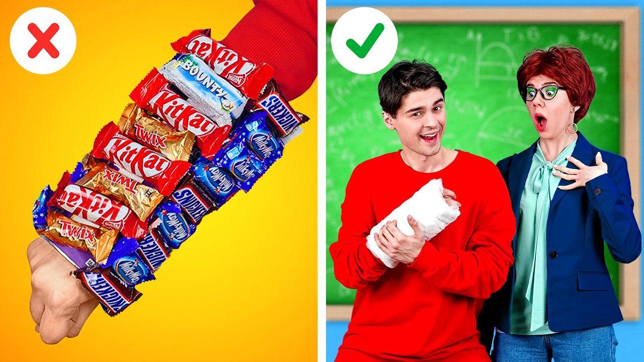 STUDENTS VS TEACHERS || Coolest Crazy DIY Pranks! School Life Hacks! Fun Challenges By 123 GO! BOYS