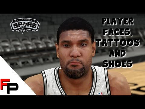 NBA 2K14 - San Antonio Spurs - Player Faces - Tattoos & Shoes PS4