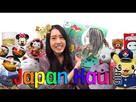 JAPAN 2016 HAUL! (feat Pokemon, Disney and etc)