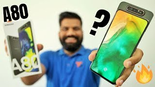 Samsung Galaxy A80 Unboxing & First Look + Giveaway | 48MP Triple Rotating Camera🔥