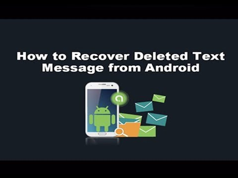 Recover Deleted SMS / Text Messages from android without Root