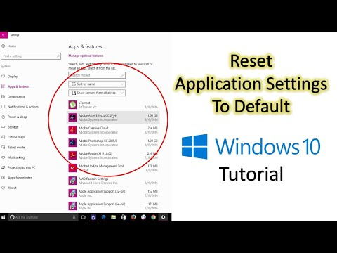 How to Reset Windows 10 Store Apps to Default Settings | Microsoft Windows 10 Tutorial