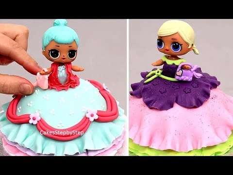 LOL Doll Mini Cake - How to make by Cakes StepbyStep