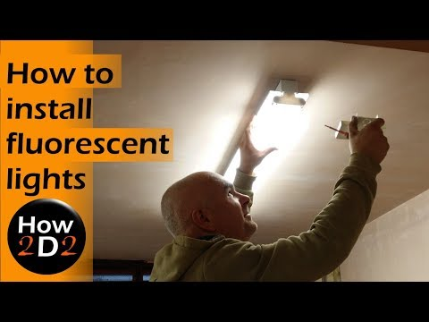 Installing fluorescent lights How to install High frequency batten lighting Fluorescent tubes