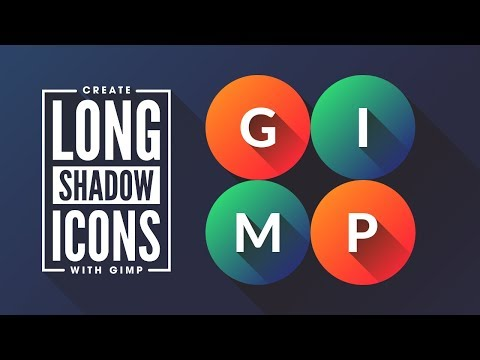GIMP Tutorial: Flat Icons with Long Shadows