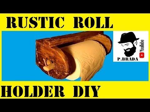 Rustic roll holder DIY