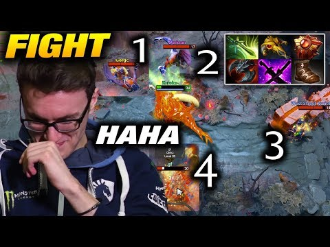 Miracle- 1VS4 Fight - HIT ME MORE PLEASE [Shadow Fiend] Dota 2