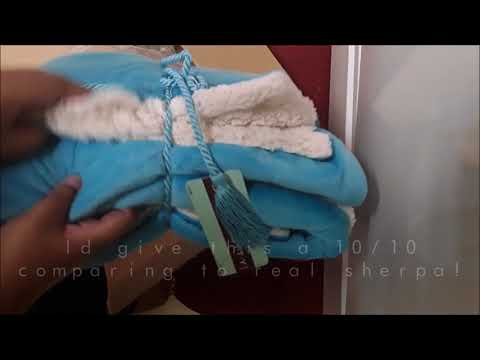 Magma Faux Sherpa Throw Blanket! Unboxing Review!