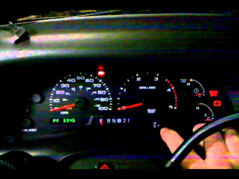 Instrument Cluster Self Test