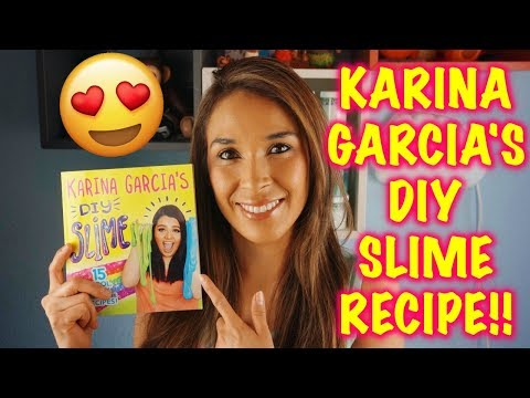 TESTING KARINA GARCIA SLIME RECIPES!! HOW TO MAKE FLUFFY SLIME WITHOUT BORAX!!