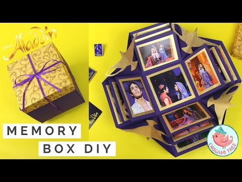 How to Make an Explosion Box | Paper Craft Exploding Gift Box | Store Memories ALADDIN on Broadway