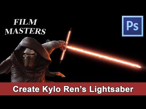 Photoshop Tutorial - Create Kylo Ren's Crossguard Lightsabre Star Wars | Film Masters