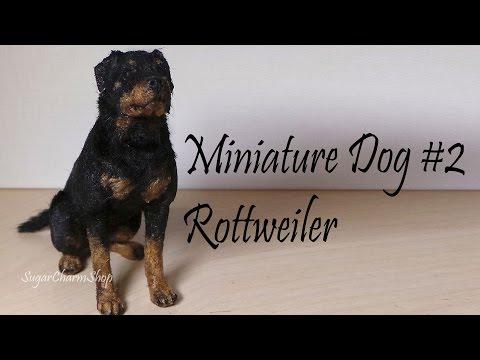 Polymer Clay Tutorial; Miniature Dog #2; Rottweiler