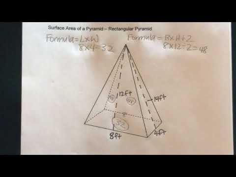 How to find the Surface Area of a Rectangular Pyramid