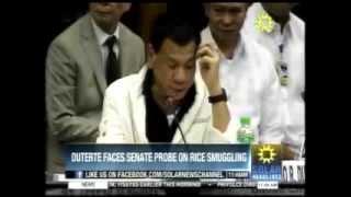Davao City Mayor Rodrigo Duterte Complete ( Senate Hearing on Rice Smuggling )