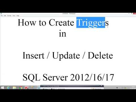 Implementation how to create triggers in sql server 2012