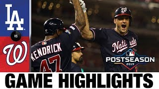 Max Scherzer Ryan Zimmerman Lift Nats To Game 4 Win Dodgers Nationals NLDS Game Highlights