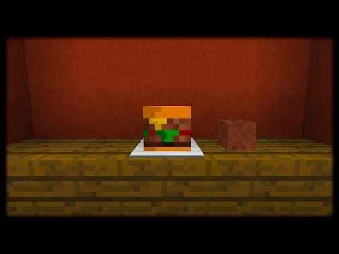 Minecraft PE | How to Make a Burger | No Clickbait