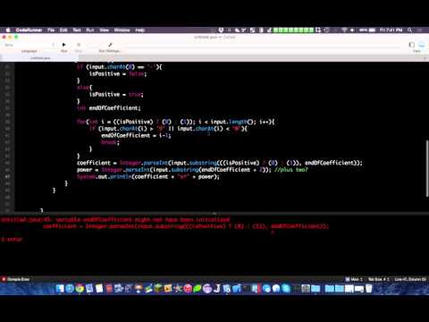 Simple Java Program Tutorial: Power Rule & Differentiation