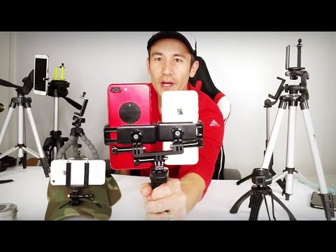 Dual Smartphone/GoPro One Hand Holder & Tripod (LiveStream Two Devices SameTime!