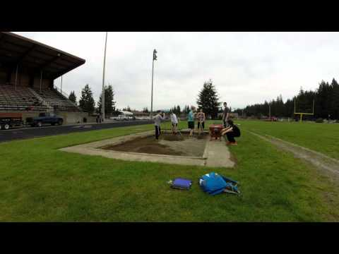 Long Jump pit dig out