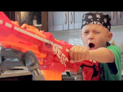 NERF WAR: DAD vs SON!