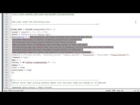 How to install custom jobs on DarkRP :: Next Generation DarkRP