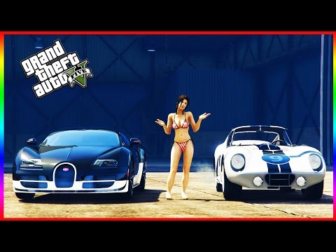 GTA 5 DLC - $8 MILLION CAR vs BUGATTI VEYRON SS (CUNNING STUNTS)