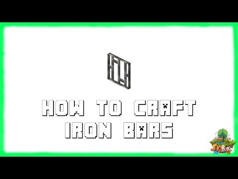 Minecraft 1.12.2: How to Make IRON BARS! Recipe Tutorial for Minecraft 1.12 & 1.11.2 | 2018