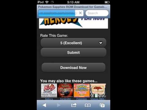 Pokemon and any Gameboy Advance Games on iPod touch 4g (No Jailbreak)