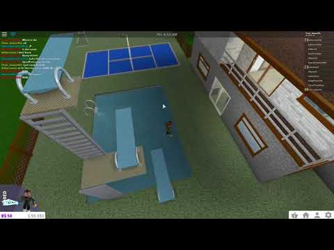ROBLOX BloxBurg house tour+how to make a diving board