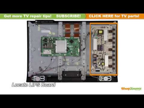 Sharp TV Repair - How to Replace RUNTKA448WJQZ Power Supply/Backlight Inverter Boards - LCD Repair