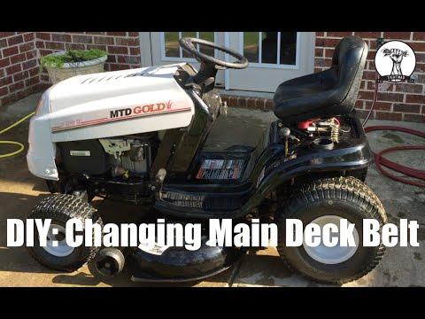 DIY: How to Change the Main Deck Belt on MTD Gold Lawn Mower - Bolens or Yard Machines