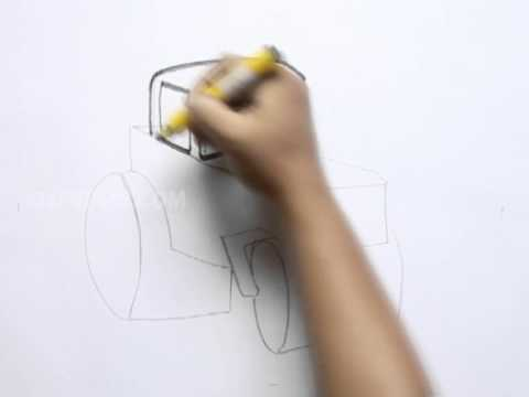 How to Draw a Steamroller
