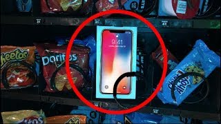 iPhone X for $1.00 at VENDING MACHINE!