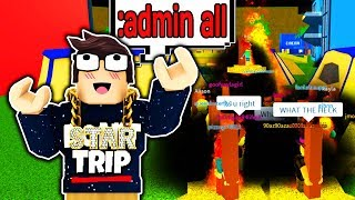 GIVING EVERYONE ADMIN COMMANDS IN ROBLOX!