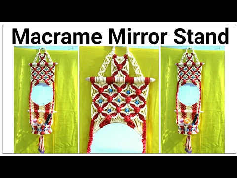Amazing DIY of Macrame mirror wall hanging watch full video HD Tutorial