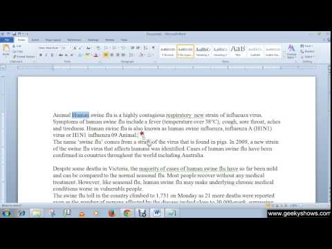 Microsoft Office Word 2010 Drag and Drop Text