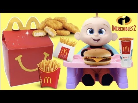 The Incredibles 2 Movie McDonald's Happy Meal Toys with Baby Jack Jack Family Superheroes