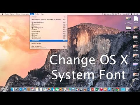 How to : Change OS X Yosemite system font