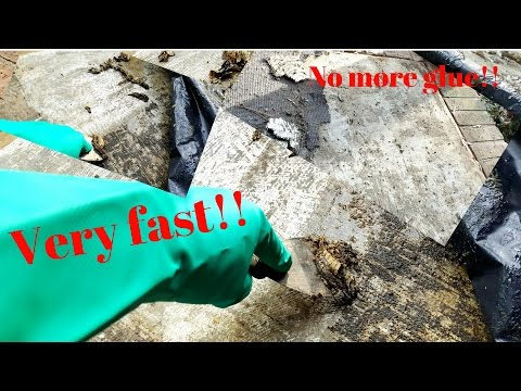 How to remove glue or mastic from floors or walls
