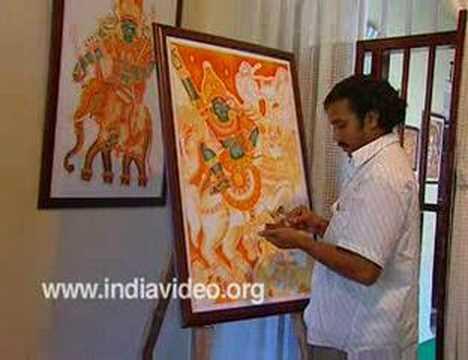 Training Mural paintings in Kerala, India